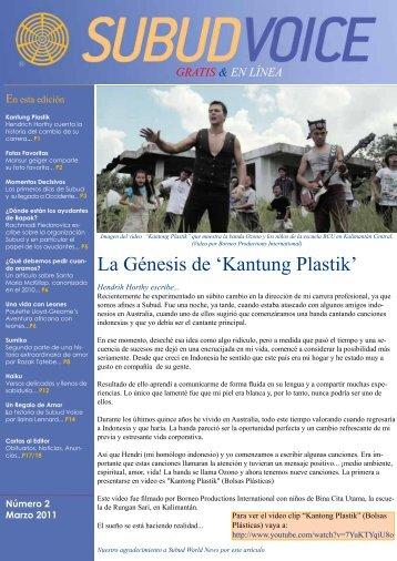 La Génesis de 'Kantung Plastik' - Subud Voice
