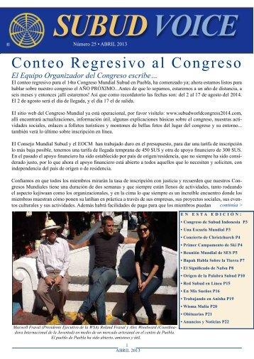 Conteo Regresivo al Congreso - Subud Voice