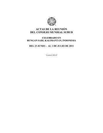 actas de la reunión del consejo mundial subud - Subud World News