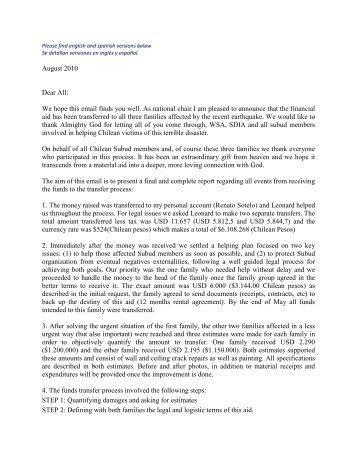 August 2010 Dear All - Subud World News