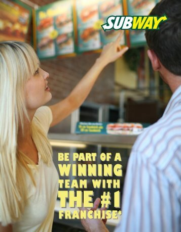 Global Franchising Opportunity* The - Subway