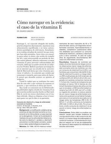 el caso de la vitamina E - Sociedad Uruguaya de Cardiología