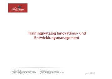 Trainingskatalog Innovations- und ... - Successfactory