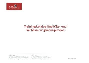 Trainingskatalog Qualitäts- und ... - Successfactory