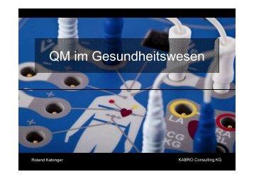 QM im Gesundheitswesen_Roland Kabinger - Successfactory