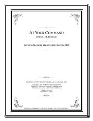 At Your Command by Neville L. Goddard - The Success Manual