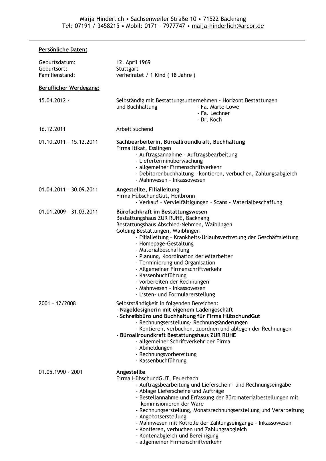 Schön Interesse Am Lebenslauf Für Buchhalter Galerie - Entry Level ...