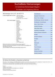 SucheBiete Kleinanzeigenzeitung Weiden - Kostenlose Kleinanzeigen