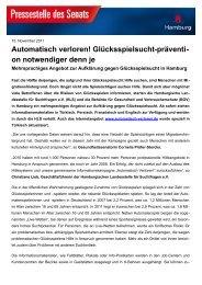 Pressemitteilung - Sucht-Hamburg