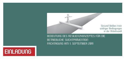Einladung Resilienz - Sucht-Hamburg