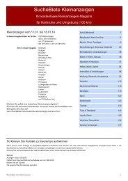SucheBiete Kleinanzeigenzeitung Karlsruhe - Kostenlose ...