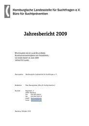 Jahresbericht 2009 - Sucht-Hamburg