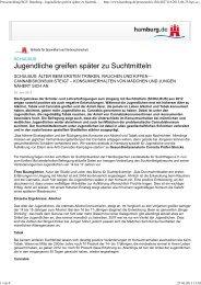 Zur Pressemitteilung der FHH - Sucht-Hamburg