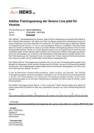 Adidas Trainingsanzug der Sereno Line jetzt für ... - Fair-news.de