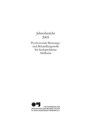 Jahresbericht 2005 der Psychosozialen Beratungs - Suchtberatung ...
