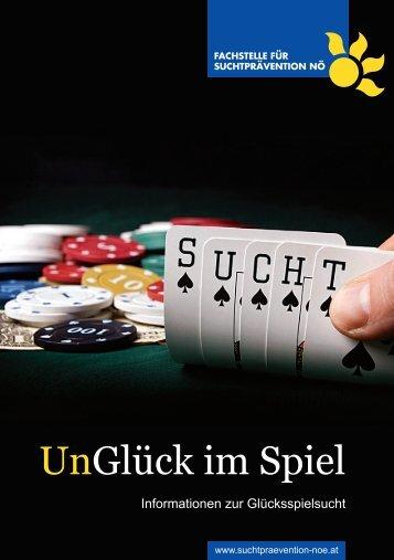 Broschüre UnGlück im Spiel - Fachstelle für Suchtprävention NÖ