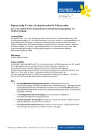 Informationsblatt - Fachstelle für Suchtprävention NÖ