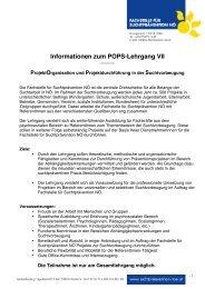 Informationen zum POPS-Lehrgang VII - Fachstelle für ...