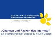 Chancen und Risiken des Internets - Fachstelle für Suchtprävention ...