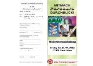 Moderatorenschulung - Suchtprävention in Sachsen