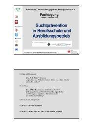 Suchtprävention in Berufsschule und Ausbildungsbetrieb