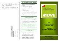 Veranstaltungsflyer - Suchtprävention in Sachsen