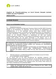 1 Angebote der Präventionsabteilung von Sucht Schweiz: Beispiele ...