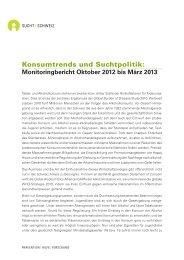 Monitoringbericht - Sucht Schweiz