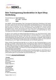 Dein Trainingsanzug Sonderaktion im Sport Shop ... - Fair-news.de