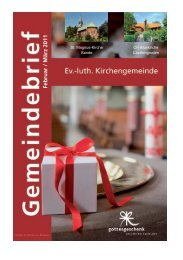 Gemeindebrief Februar/März 2011 - Ev. - Evangelisch-lutherischen ...