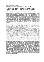 Literatur konkret - Sudetendeutsches Archiv