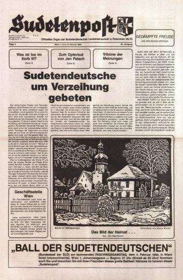 Sudetendeutsche um Verzeihung gebeten - Sudetenpost