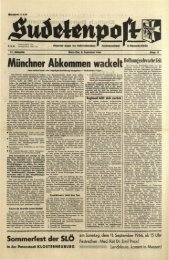 Münchner Abkommen wackelt - Sudetenpost