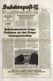 Sudetendeutsche Frage: Probleme um den Prager ... - Sudetenpost