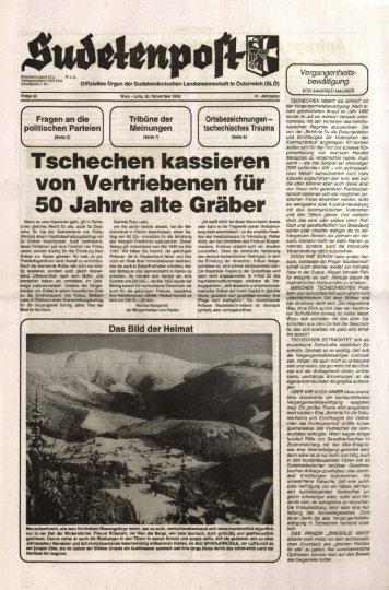 Tschechen kassieren von Vertriebenen für 50 Jahre ... - Sudetenpost
