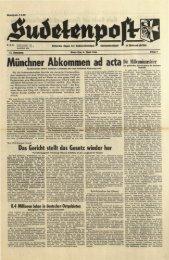 Münchner Abkommen ad acta - Sudetenpost