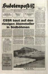 CSSR baut auf den riesigen Atommeiler in Südböhmen - Sudetenpost
