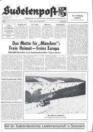 Das Motto Freie Heimat—freies Europa - Sudetenpost