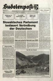 Slowakisches Parlament bedauert Vertreibung der ... - Sudetenpost