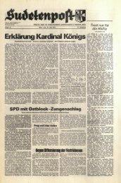 Erklärung Kardinal Königs - Sudetenpost
