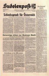 Schiedsspruch für Osterreich - Sudetenpost