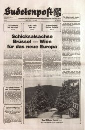 Schicksalsachse Brüssel Wien für das neue Europa - Sudetenpost
