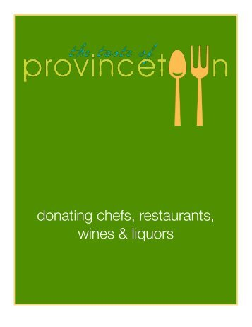 donating chefs, restaurants, wines & liquors - Sue Auclair Promotions