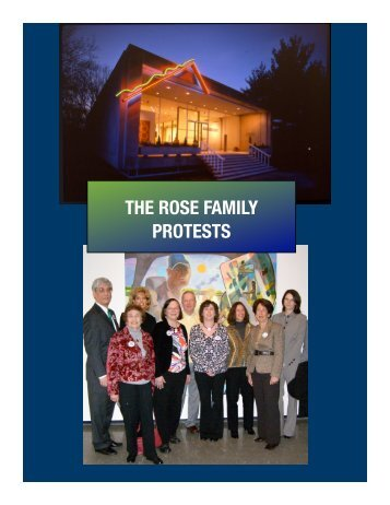 THE ROSE FAMILY PROTESTS - Sue Auclair Promotions