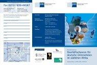 Flyer zur Wirtschaftskonferenz - Südafrika