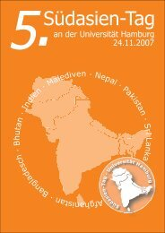 Südasien-Tag - 10. Südasien-Tag - Universität Hamburg