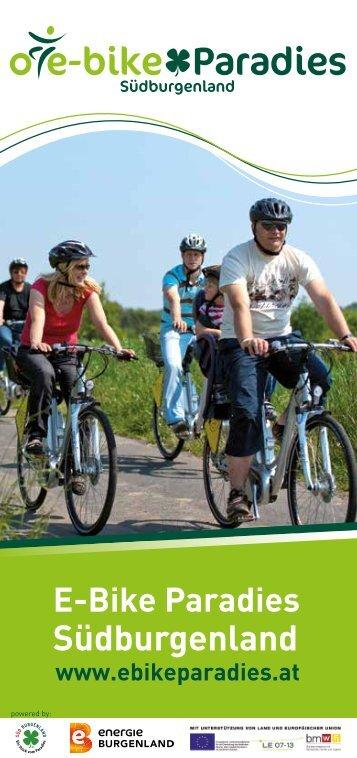 e-bike folder 2013.pdf - Südburgenland Tourismus