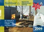 Bayerische Hausbesitzer- Zeitung - Süddeutsche Wohnwirtschaft