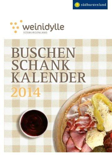 Buschen schank kalender 2014