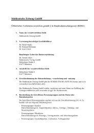 Süddeutsche Zeitung öffentiches Verfahrensverz - Süddeutscher ...